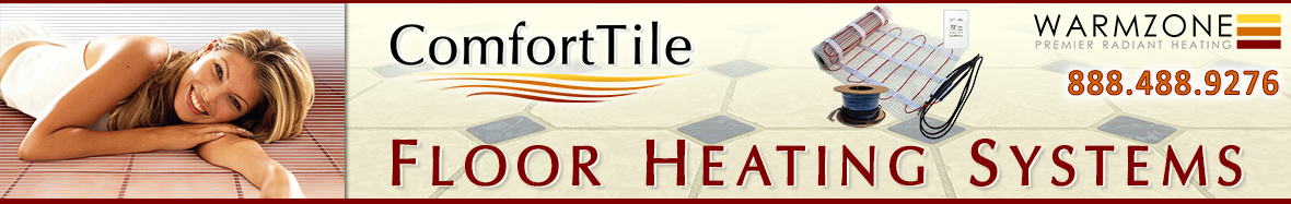 ComfortTile heated floors header banner
